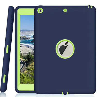 "For Apple iPad 6th Generation 9.7"" Tough Rubber Heavy Shockproof Hard Case Cover"