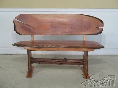 F43738EC: Studio Crafted Walnut Bench in the George Nakashima Style