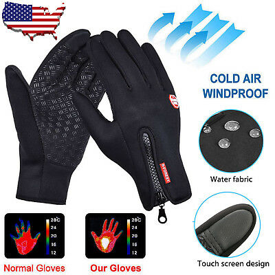 Men Women Winter Waterproof Insulated Gloves Outdoor Warm Thermal Sport Mittens