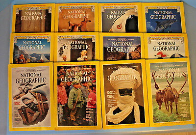 National Geographic 1979 Complete Year, Never Read, Mint Condition, with Inserts