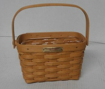 Longaberger 1998 Edition Dresden Tour Basket II with Plastic Protector