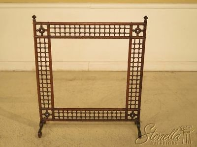 F29625EC: Antique Victorian Stick & Ball Oak Fire Screen Frame