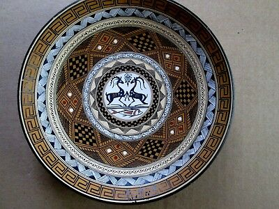 Greek Art Pottery Rodos Geometric Plate 1983 Signed By The Artist