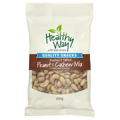 Healthy Way Roasted and Salted Peanut Cashew Mix 400g
