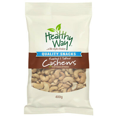 Healthy Way Roasted and Salted Cashews 400g