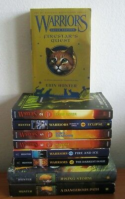 Lot Of 9 Warriors Books: Power Of Three, New Prophecy, Super Edition Hd / Sc