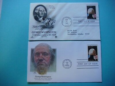 Lot of 2  FDC 2-22-1982 - George Washington - First day of issue. lot#431