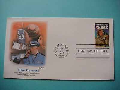 Fleetwood FDC 9-26-1984 - Crime Prevention - First day of issue. lot#375