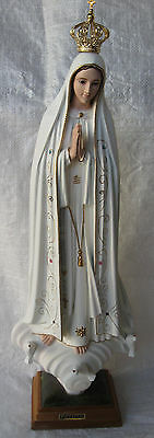 Fatima Figure Statue Madonna Plastic 55 cm Lady of Fatima Color New