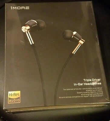 1MORE Triple Driver In-Ear Headphones with In-line Mic and Remote (Black