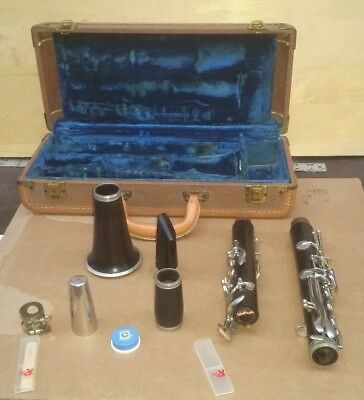 Vintage Boosey & Hawkes Clarinet With Case Needs Repair .