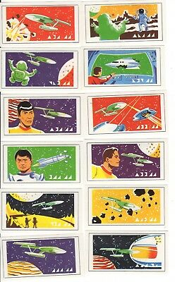 Star Trek Cards 1971. Full set of 12