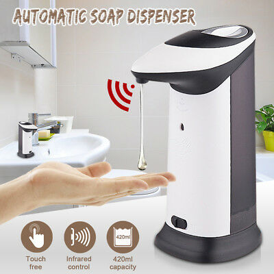 420ml Automatic Soap Dispenser Hand Free IR Sensor Touchless Liquid Shampoo Pump