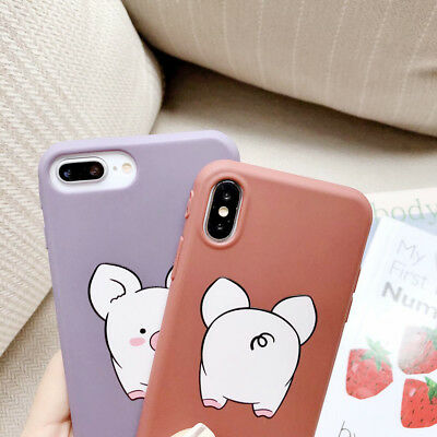 Candy TPU Cute Pig 2 Phone Case Cover Back For iPhone Xs Max SR XS X 8 7 6 Plus