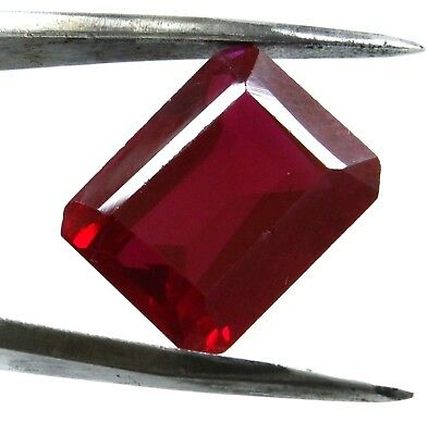 17.65 Ct Natural Mozambique Blood Red Ruby Manik Emerald Cut Gems Ggl Certified