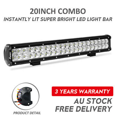 20inch Philips LED Light Bar Spot Flood Offroad Driving Work 4x4 Truck 23""