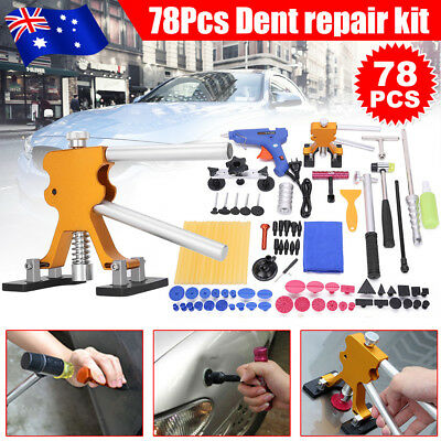 78× Paintless Hail Removal PDR Tools Dent Puller Line Board Car Body Kit