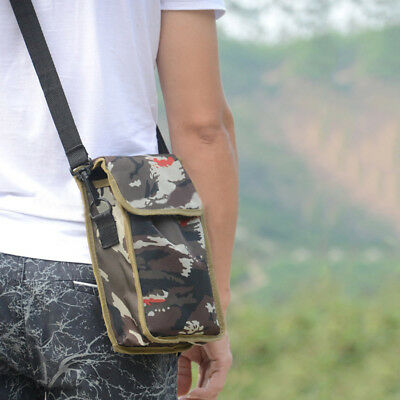 Camo Metal Detecting Finds Recovery Bag Pouch with Crossbody Strap/ Waist Buckle