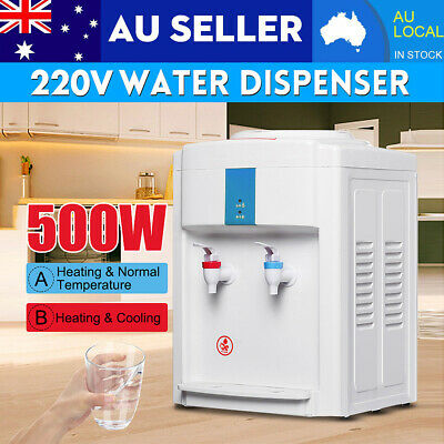 220V Bench Top Water Cooler Dispenser Filter Purifier Hot/ Cold/ Ice Temperature