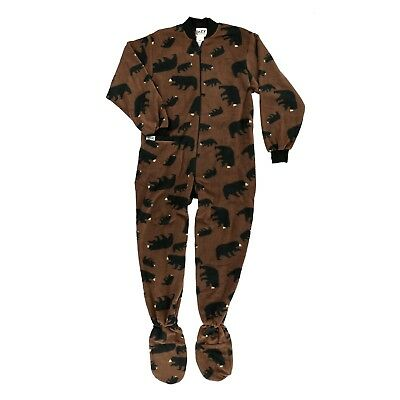 LazyOne Mens Timberland Bear Footie All-in-One Adult
