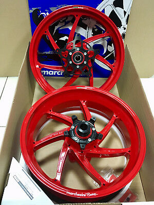 Marchesini Aluminium Forged Wheels M7RS BMW S1000 RR GENESIS RED