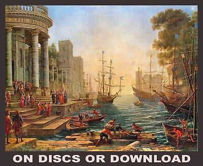 Make, Sell Art Prints OLD MASTER PAINTINGS Vols1-4 RESTORED Images Disc/Download