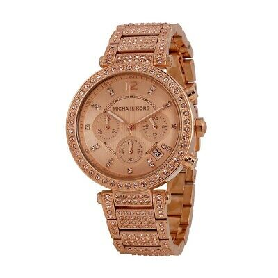100% New Michael Kors MK5663 Glam Parker Rose Gold-Tone Analog Women's Watch