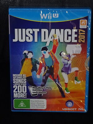 Wii U - JUST DANCE 2017 - Nintendo WiiU AUS PAL - BRAND NEW - FACTORY SEALED