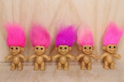 Vintage Russ Troll Doll - Bulk Lot Of 5 Trolls - 5 Inch