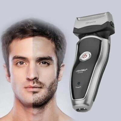 Rechargeable Electric Razor Portable Man Shaver Groomer Double Side Trimmer TII