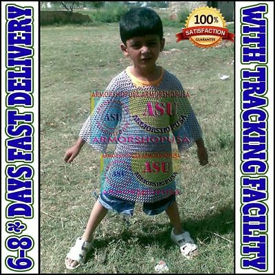 Aluminum Chainmail Shirt 10-15 yrs child Medieval Chain Mail Armor Costume Gift