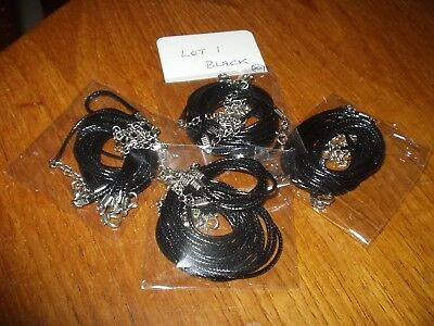 Joblot Necklace Cord For Pendants and Necklaces X20.18in plus extender Black(L1)
