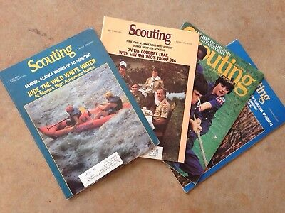 Lot Of Four VINTAGE 1980-82 Scouting Magazines
