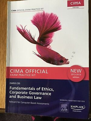 CIMA, PAPER C05 Fundamentals Of Ethics, Corporate Governance