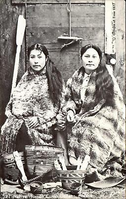 Aleutian women curio sellers with their wares ~ 1977 repro by Glimpse of Time