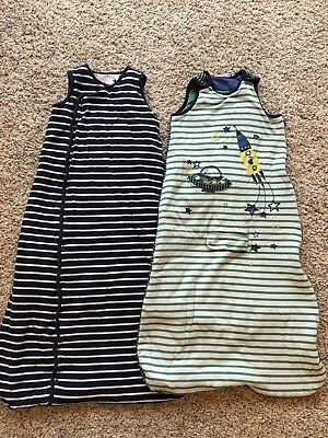 Boys M&S Baby Sleeping Bags x 2 18-36 Months 2 Tog