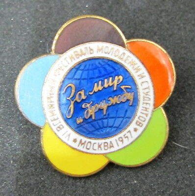 Badge Festival of Youth and Students 1957 of the year