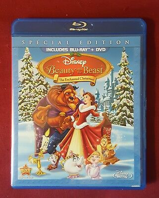 Beauty and the Beast: The Enchanted Christmas LN Blu-ray + DVD, Free Shipping