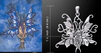 Blue Fairy Pendant by Amy Brown sterling silver licensed fantasy artist gift