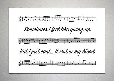 Shawn Mendes - In My Blood - Song Sheet Print Poster Art