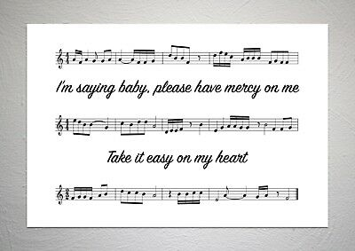 Shawn Mendes - Mercy - Song Sheet Print Poster Art