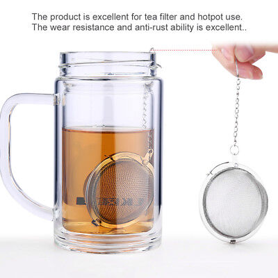 Stainless Steel Infuser Strainer Mesh Tea Filter Spoon Locking Spice Tea Ball GM