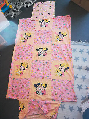 Housse de couette Mickey Minnie No CTI vintage duvet cover Disney lit France