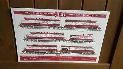 11 x 17 Frisco St.Louis-San Francisco Railroad Print