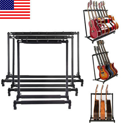 Fold Stand 3 5 7 9 Musical Holder Guitar Folding Rack Stand Stage Bass Acoustic