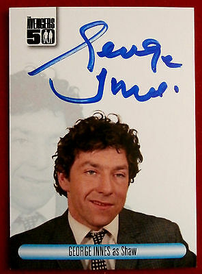 THE AVENGERS 50th - GEORGE INNES as Shaw - Autograph Card AVGI Unstoppable 2012