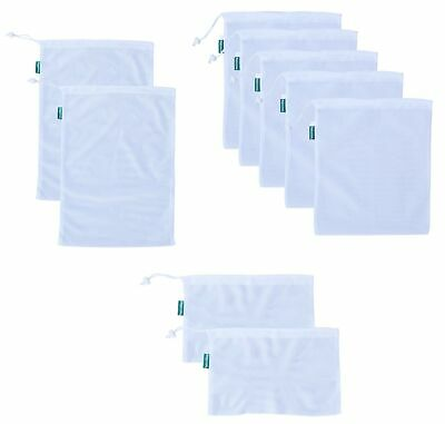 Earthwise Reusable Mesh Produce Bags - TARE WEIGHT TAGS on every bag Premium ...