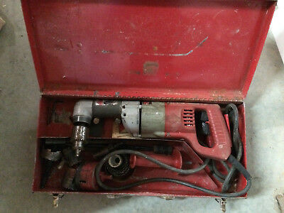 """Milwaukee Heavy Duty Corded 1/2"""" Right Angle Drill 48-06-2871 w/ Metal Case"""