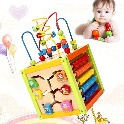 Wooden Construction Baby Kids Toy Intelligence Educational Development Xmas Gift
