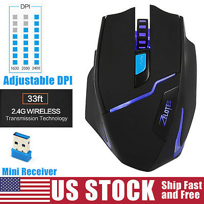 Bluetooth Wireless Mouse Optical Mice DPI Adjustable for PC Mac Android Tablet